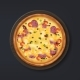 Realistic Pizza. Tasty Italian Food with Cheese - GraphicRiver Item for Sale