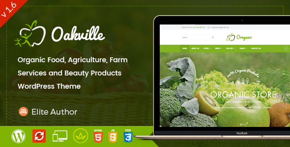 Oakville - Organic Food and Beauty Products WP Theme