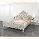 Classic Carved Bed 2 - 3DOcean Item for Sale