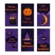 Happy Halloween Greeting Card Vector Collection. - GraphicRiver Item for Sale