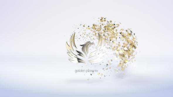 Golden Particles Logo Reveal