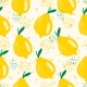 Seamless Summer Vector with Lemons - GraphicRiver Item for Sale