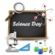 Science Day Text Over Chalkboard - GraphicRiver Item for Sale