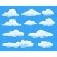 Set of Cartoon Clouds - GraphicRiver Item for Sale