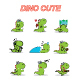 Dinosaurs Cute Hand Drawing Illustration Cartoon - GraphicRiver Item for Sale
