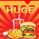 Happy Price - Fast Food Promotion Outdoor Banner - GraphicRiver Item for Sale