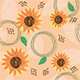 Seamless Pattern With Sunflower - GraphicRiver Item for Sale