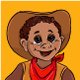 Little Boy in Cowboy Costume - GraphicRiver Item for Sale