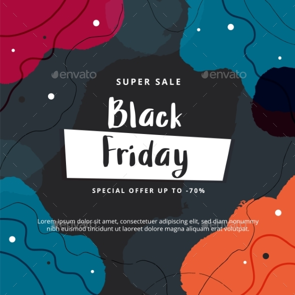 Black Friday Abstract Modern Banner Template