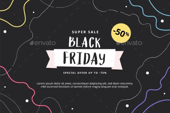 Black Friday Abstract Modern Banner Template with
