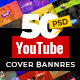 50 YouTube Cover Banners - GraphicRiver Item for Sale