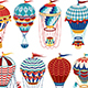 Vintage Hot Air Balloon Collection - GraphicRiver Item for Sale