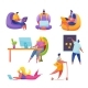Vector People Workplace Freelancer and Office Men - GraphicRiver Item for Sale