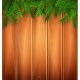 Vector Christmas Poster Spruce Tree Branch Wooden - GraphicRiver Item for Sale