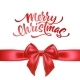 Vector Merry Christmas Lettering with Bow Ribbon - GraphicRiver Item for Sale