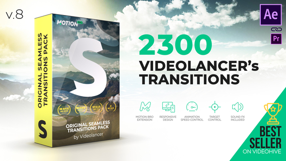 Videolancer's Transitions | Original Seamless Transitions Pack