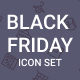 Black Friday Icon Set - GraphicRiver Item for Sale