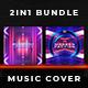 2in1 Music Album Cover - Bundle 23 - GraphicRiver Item for Sale