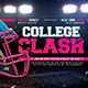 American Football Flyer College Match Template - GraphicRiver Item for Sale