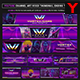 Vortex Gaming Live Steam Youtube Channel Art/Video Thumbnail and Ending Video Template - GraphicRiver Item for Sale