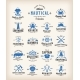 Abstract Retro Nautical Labels Collection - GraphicRiver Item for Sale