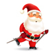 Santa Claus Ice Skating - GraphicRiver Item for Sale