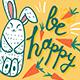 Happy Rabbits Clipart Set - GraphicRiver Item for Sale
