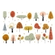 Autumn Decorative Elements with Abstract Trees - GraphicRiver Item for Sale