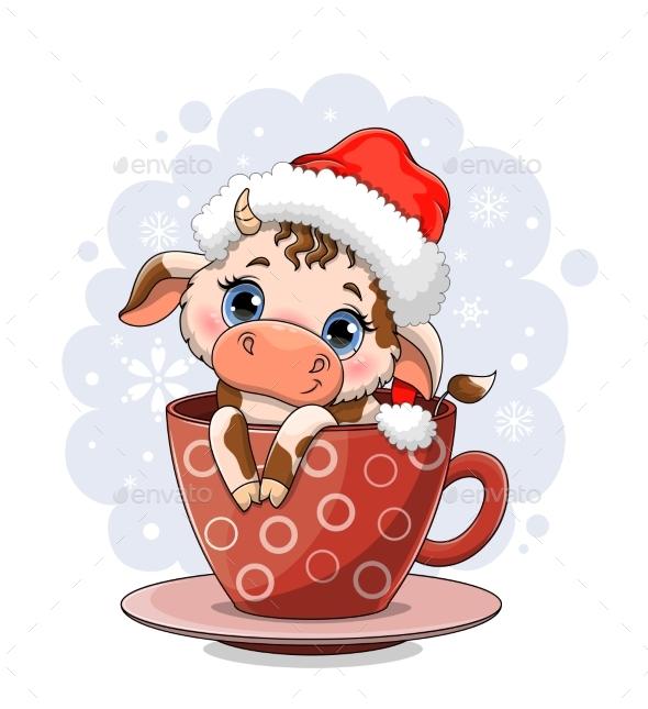 Cute Cow with Big Blue Eyes
