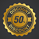 Gold and Silver Discount Sale Badge - GraphicRiver Item for Sale