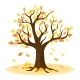 Autumn Tree with Yellow Leaves - GraphicRiver Item for Sale