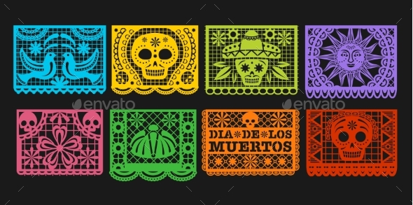 Paper Flags, Mexican Day of the Dead Papel Picado
