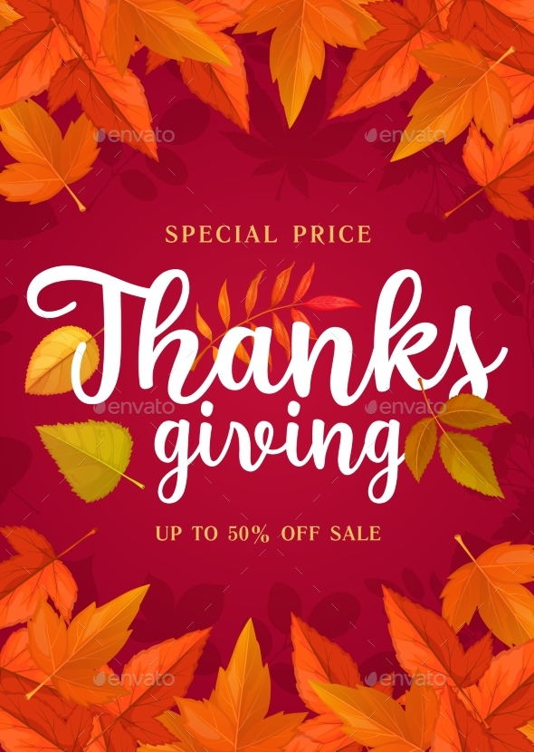 Happy Thanks Giving Sale Poster, Special Price