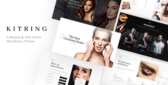 Kitring - A Beauty & Hair Salon WordPress Theme