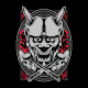 The Oni Mask Skull - GraphicRiver Item for Sale