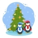 New Year Illustration with Penguins - GraphicRiver Item for Sale