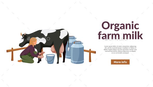 Milking Cow Farm Background