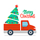 Christmas truck and Christmas tree - GraphicRiver Item for Sale