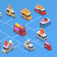 Food Trucks Isometric Flowchart - GraphicRiver Item for Sale