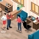 Apartment Rental Isometric Background - GraphicRiver Item for Sale