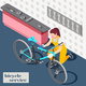 Bicycle Service Isometric Background - GraphicRiver Item for Sale