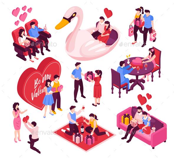 Dating Valentine Isometric Set