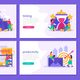 Business Gamification 2x2 Design Concept - GraphicRiver Item for Sale