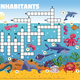 Sea Inhabitants Crossword Composition - GraphicRiver Item for Sale