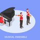 Musical Ensemble Isometric Composition - GraphicRiver Item for Sale