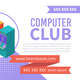Computer Club Isometric Banner - GraphicRiver Item for Sale