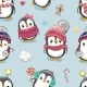 Pattern with Cute Cartoon Penguins - GraphicRiver Item for Sale