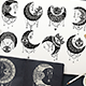 Crescent Moon Eyes Clipart Set - GraphicRiver Item for Sale