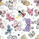 Pattern with Cartoon Butterflies - GraphicRiver Item for Sale
