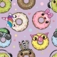 Pattern with Cute Cartoon Donuts - GraphicRiver Item for Sale